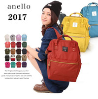 Wholesale anello backpacks online - ANELLO Japan Stripe Handle Backpack Styles Large Capacity Campus Rucksack Canvas School Bag Mommy Backpack OOA2207