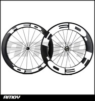 Wholesale Powerway Road Hub - Free shipping 25mm width hed Front 60mm with Rear 88mm Clincher Road Bike Carbon wheels 700C Powerway hubs pillar spokes