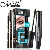 Wholesale Extensions Pen - M.n Menow Doubling Lashes Extension Mascara Set Kit Volumizing Lengthening Curling Lashes Makeup lash eyelash with eyeliner pen