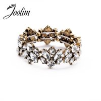 Wholesale Nickel Free Charms Wholesale - Wholesale- JOOLIM 2014 Clear Colorful Crystal Charm Bracelet Women Bracelet Design Jewelry Free Shipping Nickel and Lead Free