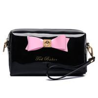 çantalar çantalar çantaları toptan satış-Yeni şeker kadın Lady Seyahat Makyaj Çantaları Kozmetik Çanta Kılıfı Debriyaj Çanta Rahat Çantalar falt tipi kozmetik hediye çanta