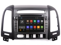 Wholesale mp3 player screen gray online - Android Car DVD Player GPS Navigation for Hyundai Santa Fe with Radio Bluetooth USB SD Video Stereo WiFi Core G G