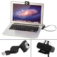 megapixel kameras video großhandel-Großhandels-USB 30M Megapixel-Webcam Digital-Videokamera Web Cam für PC-Laptop-Notebook-Computer-Clip-on-Kamera Schwarz