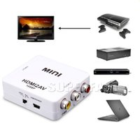 Wholesale Rca Av Hdmi Tv - Mini Composite 1080P HDMI to RCA Audio Video AV CVBS Adapter Converter For TV Converter Adapter Upscaler with Retail Package
