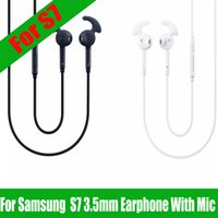 Wholesale Bluetooth Headset S3 - For S7 Earphone Headset In Ear Stereo Earbuds Earphones Audifonos With Mic for Samsung Galaxy S7 S6 S5 S4 S3 S2