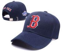 Wholesale Boston Snapback Hats - 2017 newest Boston Red Sox Snap Back Hats Team Snapbacks Sox Snap Backs Adjustable Caps Baseball Snapback Summer Flat Caps Dark Blue Hats