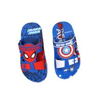 Wholesale Boys Spiderman Slippers - causal baby kids slippers sandals shoes cute spiderman house slipper shoes for 3-7yrs boys kids little children bath sandals hot