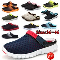 Wholesale Hollow Out Sandals - New Fashion Hot Sale Spring Summer Autumn Men And Women Slippers flats Shoes Breathable Mesh Hollow Out Sandals Leisure Shoes Unisex Couples
