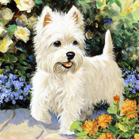 Wholesale Pictures Cartoon Dogs - DIY 5D Diamond Painting Embroidery Dog Animal Cross Stitch Mosaic Kit Painting Decoration Picture for Home Decor Without Frame A2497