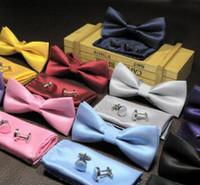 mann freie verschiffenkleidung koreanisch großhandel-3 Anzug Krawatte Männer formelle Kleidung dünne Polyester Jacquard Partei Plaid Bogen koreanische Version von England Bekleidungszubehör versandkostenfrei