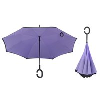 Wholesale Umbrella For Cars - Double Layer Inverted Umbrella Windproof Reverse Umbrella Reverse Folding Umbrella Protection for Car Outdoor Use