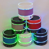 2017 Alta qualità Nuovo LED Bluetooth Speaker S09 3 LED Anello luminoso Super Bass Metal Mini portatile Hi-Fi Wireless Handfree