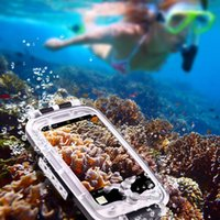 Wholesale Underwater Video Housing - Haweel Waterproof and Snowproof Phone Cover Case for Diving Housing Photo Video Taking Underwater Water Resistant 40M for smartphoen