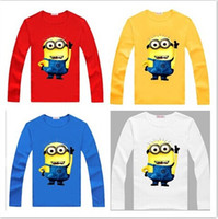 new spring kids tshirt minions baby boys clothes girl long sleeve t shirts design children costume tops cotton cartoon tees white blue from