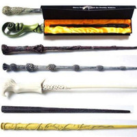 Wholesale 18 designs Harry Potter Cosplay Toys hp Harry Potter Magic Wand with a Gift Box Kids Wand Toys Kids Christmas gift for children