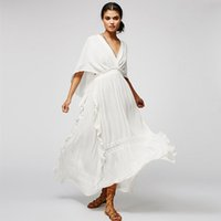 Wholesale Evening Dresses Wind - Bohemian Style Dresses European and American Wind V-neck Even Sleeve Bohemia Tall Waist Backless Dress of Cultivate One's Morality