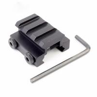 picatinny raylı köşebentler toptan satış-Taktik 3 Takımgrup 20mm Weaver Picatinny Ray Tüfek Kapsam Sight Yükseltici Mounts Avcılık Gun Fener Dağı Bankası Aksesuarları