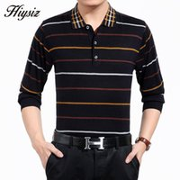 Wholesale Knitted Formal Dress - Wholesale- High Quality Men Sweater Tops Business Formal Dress Long Sleeve Turn-down Collar Cashmere Wool Pullover Men Brand Clothing 66125
