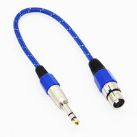 Cavo audio da 30 mm in nylon intrecciato da 6,5 ​​mm stereo maschio a XLR femmina