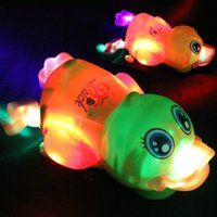Canards Lumineux Pas Cher-Vente en gros - Hot Selling Singing The Duckling Luminous Toy The Cute Duck Comme un anniversaire Girts for Friends 1pcs Fast Shipping Cadeaux de Noël