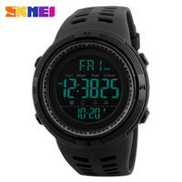Wholesale Double Chronograph Watch Men - SKMEI Men Sports Watches Countdown Double Time Watch Alarm Chrono Digital Wristwatches 50M Waterproof Relogio Masculino 1251