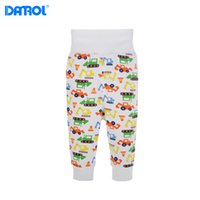 Wholesale 3 pieces M M Cotton Full Length Baby Pants Elastic Cord High Waist Tummy Warmmer Newborn Trousers DR0189