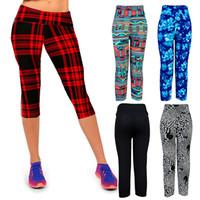 Wholesale print leggins - Sport Leggings Fitness Women Leggins Sport gym Clothes Women Pants Seven Mid Calf Printed Summer Leggings