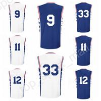 Wholesale Dry Printing - Printed 9 Dario Saric Basketball Jerseys Men 11 Nik Stauskas 12 Gerald Henderson 33 Robert Covington Jersey Blue White Alternate Quality