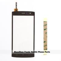 Wholesale Mobile Phone Screen Glass Lens - Wholesale- 5.5'' New Mobile Phone Touch Screen For HOMTOM HT7 HT7 Pro Touchscreen Panel Digitizer Sensor Front Glass Lens + Tape