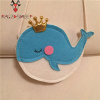 Wholesale Whale Coin - Wholesale- Raged Sheep Girls Small Coin Purse Change Wallet Kids Bag Coin Pouch Children's Wallet Money Holder Lovely Kids Gift Blue Whale