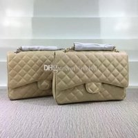 Wholesale Envelope Handbags Newest - Newest Fashion Classic Style women handbags Luxury Brand Caviar Leather Plaid Flaps totes Shoulder Bags Gold Silver Hardware (12 color)