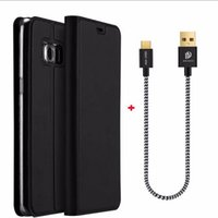 Wholesale Smoothing Card - PU Filp Cover With Portable Cable Kickstand Card Solt Skin Smooth Touch Wallet Case For iPhone 7 6 6s Plus With Retail Package