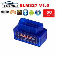 Wholesale Usb Elm 327 For Android - 50pcs Lot Wholesale Hardware V1.5 Best ELM327 1.5 Bluetooth Work ON Android Symbian Window ELM 327 Supports All OBD2 Protocols