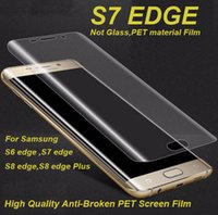 Wholesale Film Front Bags - Full Cover Curved Soft PET Protective Film Screen Protector For Samsung Galaxy S7 S8 Edge,With OPP Bag ,Free shipping