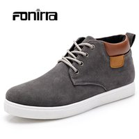 Wholesale Summer British Style Tops - Wholesale-Fashion High Top Casual Men Shoes New Autumn Winter British Style Flat Men's Shoes Comfortable Walking Shoes for Men 188
