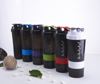 Wholesale Protein Nutrition - 3 Layers Whey Protein Shaker Bottle 500ML Blender Mixer Sports Nutrition Fitness GYM My Water Bottles Eco-Friendly
