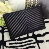 Wholesale Envelope Wallets - M167 Genuine leather top quality women handbag clutch lady purse wallet original box case fashion luxury brand designer
