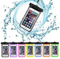 "Wholesale Black Pvc Jacket - Waterproof Pouch Bags Underwater Jacket Mobile Phone Cases With Neck Strap For less than 5.8"" all Cell Phone"