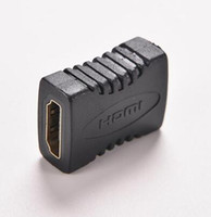 Wholesale Extension Hdmi Male Female - Hot HDMI V1.4 Female to Female F F Coupler Extender Adapter Plug for HDTV HDCP 1080P HDMI Cable Extension Connector Converter 1PC