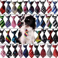Wholesale Assorted Tie Wedding - Dog Cat Necktie Dog Bow Tie Pet Necktie Handmade Adjustable Pet Bow Tie Assorted Colors Supply