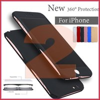Wholesale Iphone Generation Cases - For iPhone 7   6S New Second Generation 360 ° All-inclusive High-quality PC Fuel Injection Hard Case with Opp Package Free Shipping