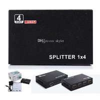 Wholesale Hdmi X Splitter - HDMI Splitter 1 X 4 Full HD 1080P Video 4 Port HDMI Switch Splitter For HDTV STB PS3 DVD In Retail package