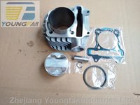 Wholesale Gy6 Scooter Big Bore Kits - 180cc 63mm big bore cylinder kit with 4V 4-Valve piston & rings & gaskets for Scooter ATV 152QMI 157QMJ GY6 125 GY6 150 GP110