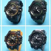 Wholesale Plastic Strapping Buckles - 2017 New Shock Digital LED Men Quartz Sports Watch Strap Rubber Army Military Quartz-watch Clock GWG 100 Waterproof Wrist Men's Relogio Masc