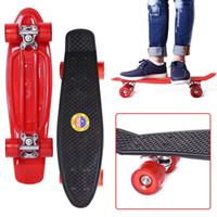 Wholesale Long Skateboard 22 - Wholesale- 22 Inches Four-wheel Street Long Skate Board Mini Cruiser Skateboard For Adult Children
