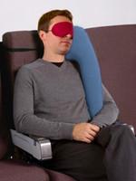 almohada de viaje para dormir al por mayor-Cojín inflable Almohada de viaje Diversas almohadas innovadoras para viajar en avión Cojines para dormir para automóvil Cuello Soporte para la cabeza de la barbilla