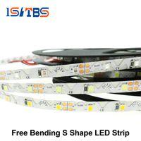 Wholesale Wholesale Bent Wire - LED Strip 2835 Free Bending S Shape LED Strip DC12V Flexible LED Light 60LED m 5m Lot for Channel Letter