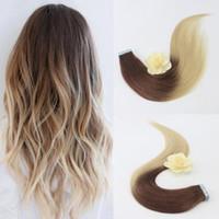 Wholesale blonde toupee for sale - Group buy Professional Sales Teams Human Hair Weave Hair Tape Extensions Inch Blonde Hair Extensions Toupee For Women