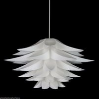 Wholesale Pendant Lights Led Restaurant - Modern Lily Flower LED Pendant Light PVC Lotus Lamp Shape Hanging Lamp DIY Light Fixture Home Lighting Restaurant suspension