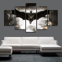 Wholesale New Arrival Hand painted Piece Modern Canvas Oil Painting Wall Art Home Decoration Batman